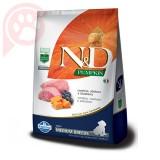 N&D PUMPKIN CANINE PUPPY MEDIUM BREEDS CORDEIRO ABÓBORA E BLUEBERRY 2,5KG