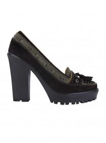 Sapato Yves Saint Laurent Camurça Bicolor 35 NUNCA USADO