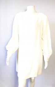 vestido VALENTINO P para M em crepe na cor creme