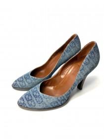 Sapato GUCCI 38 jeans com monograma da marca