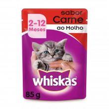 Whiskas Sachê Carne Filhotes 85g