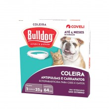 Coleira Antipulgas Bulldog Para Cães