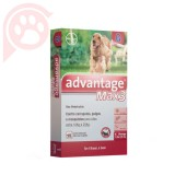 ANTIPULGAS E CARRAPATOS ADVANTAGE MAX3 CÃES G 10 A 25KG