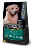 RAÇÃO CIBAU ADULT MEDIUM E MAXI BREEDS LIGHT 12KG