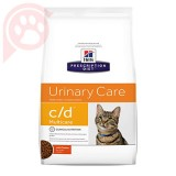 RAÇÃO HILLS PRESCRIPTION DIET FELINE URINÁRIA C/D MULTICARE 1,81KG