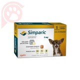 ANTIPULGAS E CARRAPATOS SIMPARIC 5MG CÃES 1,3-2,5KG