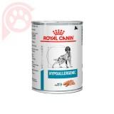 RAÇÃO ÚMIDA ROYAL CANIN CANINE HYPOALLERGENIC ALERGIA ALIMENTAR LATA 400G