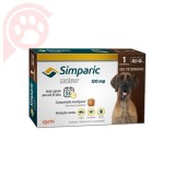 ANTIPULGAS E CARRAPATOS SIMPARIC 120MG CÃES 40,1-60KG