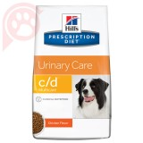 RAÇÃO HILLS PRESCRIPTION DIET CANINE URINÁRIA C/D 3,8KG
