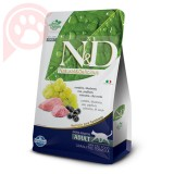 N&D GRAIN FREE FELINE CORDEIRO E BLUEBERRY ADULT 1,5KG