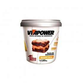 VITAPOWER PASTA DE AMENDOIM BROWNIE CREAM (1,005KG) - MRS TASTE