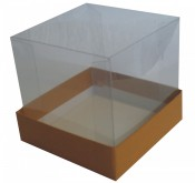 Caixa tampa transparente TT02 10,5X10,5X3x10,5