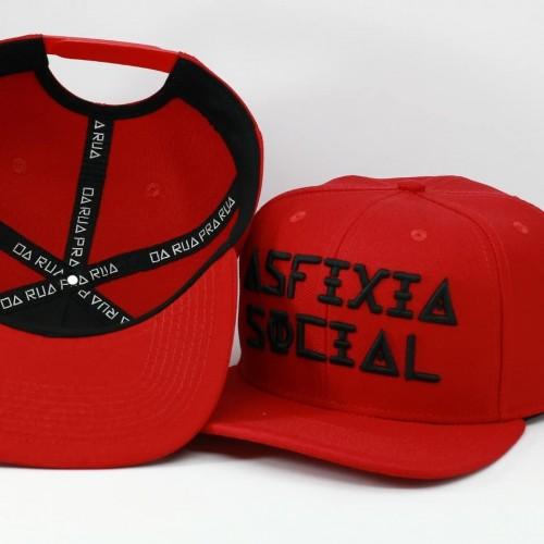 Boné Asfixia Social - Vermelho